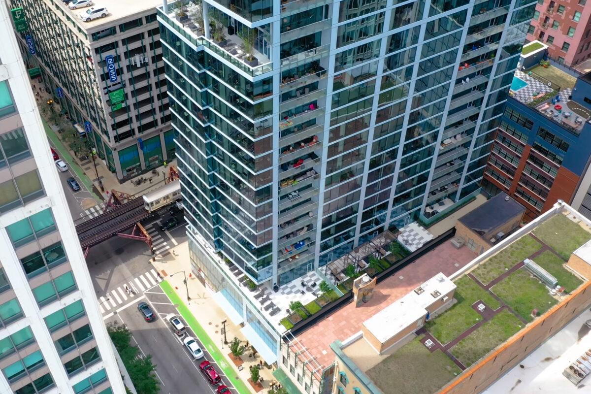 Parkline Apartments aerial view