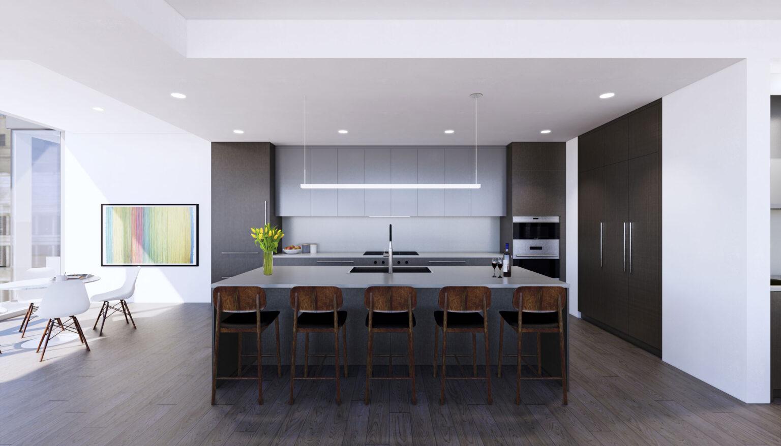 Penthouse A kitchen palette, Rustic Urban