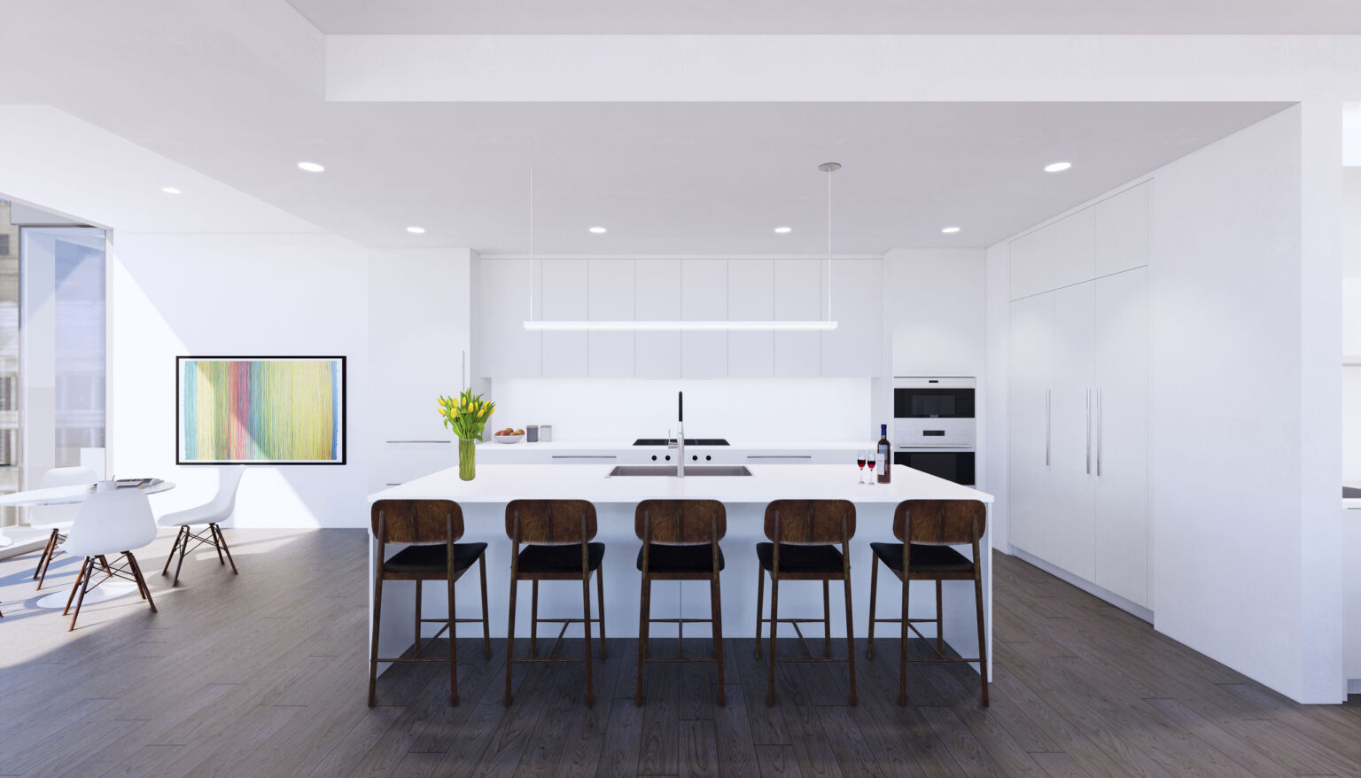 Penthouse A kitchen palette, Minimal White