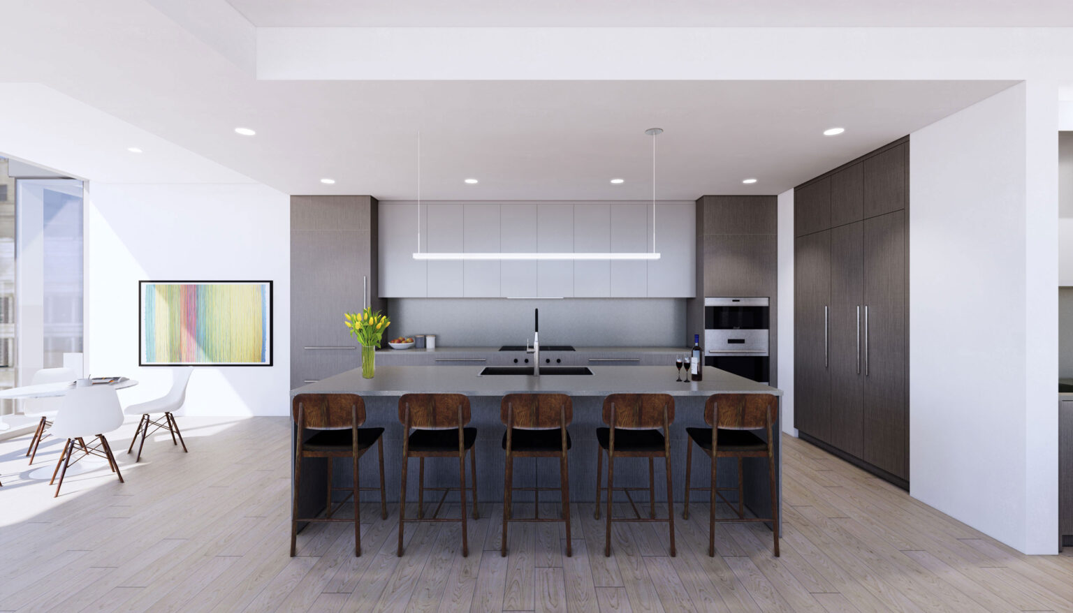 Penthouse A kitchen palette Chicago Modern
