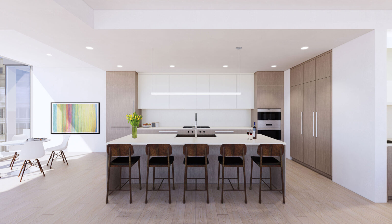 Penthouse A kitchen palette, Scandinavian Warmth